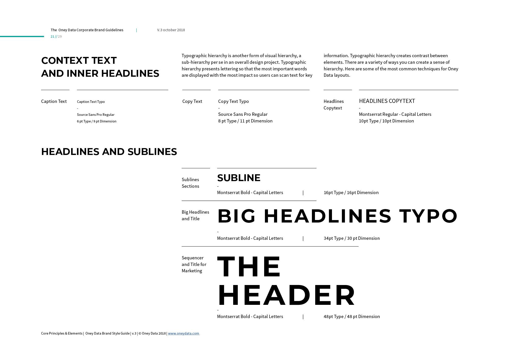 Guideline manual design